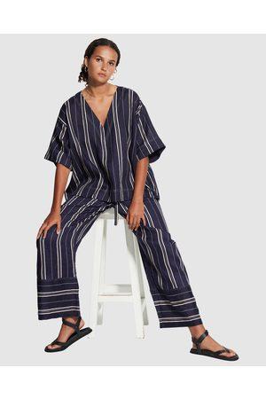 Seafolly Sand Stripe Top - Swimwear (Dark Navy) Sand Stripe Top