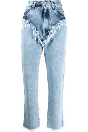 Natasha Zinko Women Boyfriend - High rise raw edge jeans