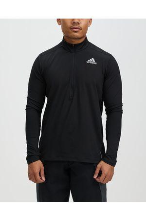 adidas Own The Run 1 2 Zip Long Sleeve Tee - Sweats Own The Run 1-2 Zip Long Sleeve Tee