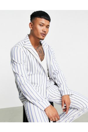 ASOS Co-ord smart track jacket in and blue stripe