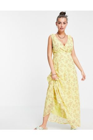 Vila Maxi dress with wrap front detail in -Multi