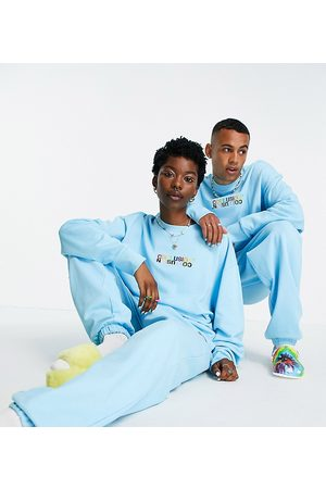 COLLUSION X EXIST LOUDLY Unisex oversized trackies with print in co-ord