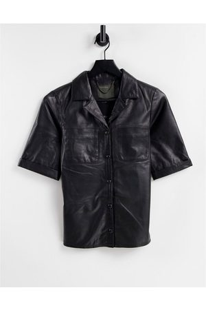 Muubaa Women Shirts - Leather shirt in