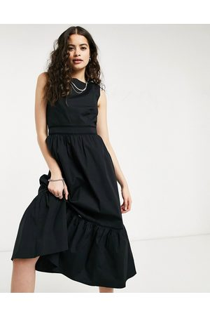 Oasis Structured midi dress in