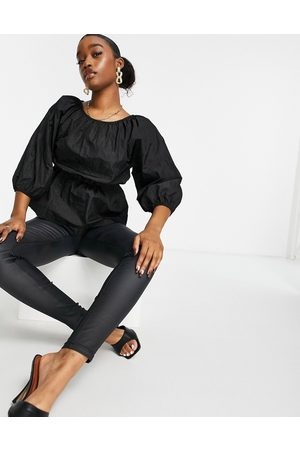 Missguided Women Blouses - Poplin top with ruched detail in