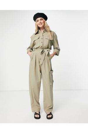 Topshop Tailored boilersuit-Green