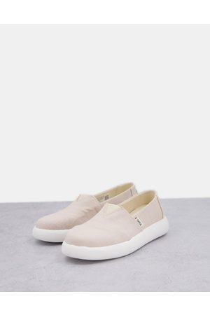 Toms Exclusive Alpagarta Mallow Earthwise sustainable flat shoes in natural canvas-Neutral