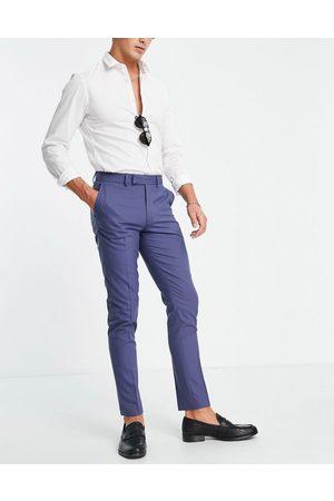 ASOS DESIGN Men Formal Pants - Skinny navy suit pants