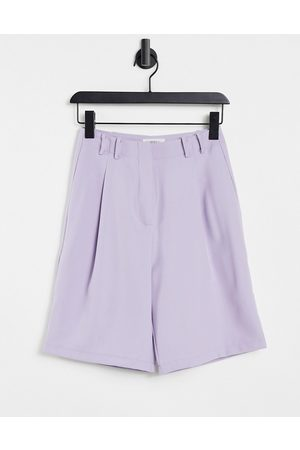 Ghospell Tailored bermuda shorts in co-ord-Purple