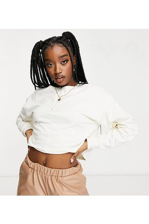 Missguided Cropped sweatshirt with zip in