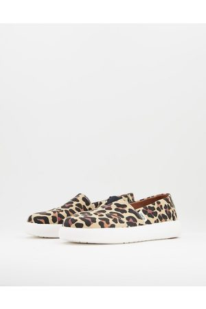 TOMS Exclusive Alpagarta Mallow Earthwise sustainable flat shoes in leopard print canvas