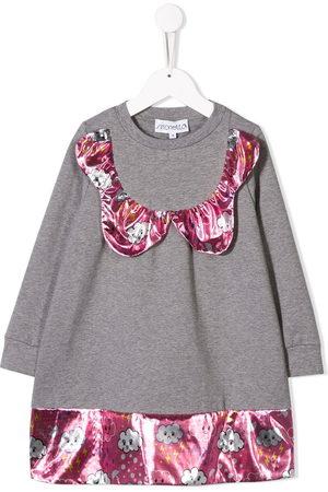 Simonetta Girls Casual Dresses - Cloud panelled jumper dress