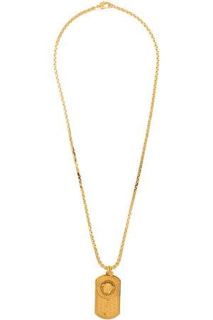 Versace Men Necklaces - Medusa dog-tag chain necklace