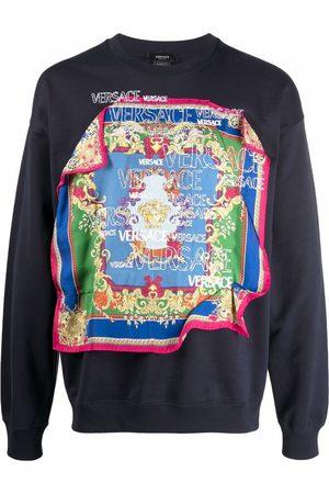 VERSACE Scarf-detail long-sleeve sweatshirt