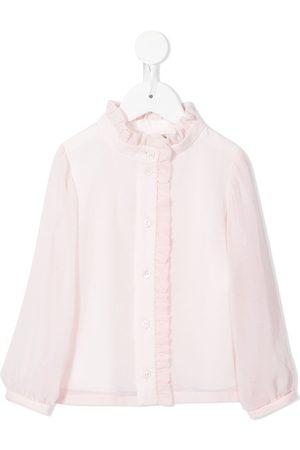 Hucklebones London Girls Blouses - Ruffle-detail long-sleeve blouse