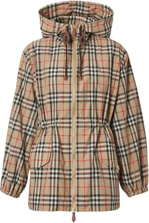 Burberry Women Outdoor Jackets - Vintage Check hooded jacket