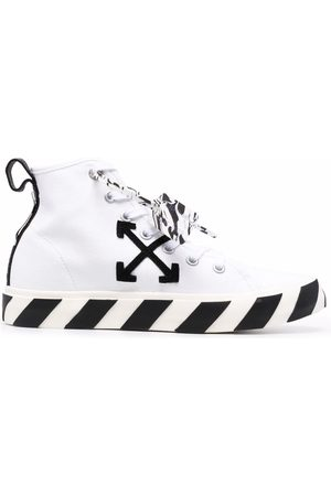Off-White Men Sneakers - MID TOP VULCANIZED CANVAS BLACK