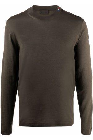 Moncler Men Sweatshirts - Stitched crew-neck jumper