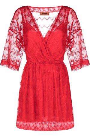 Missoni Sheer-layer wrap dress