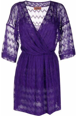 Missoni Women Dresses - Zigzag-embroidery V-neck dress