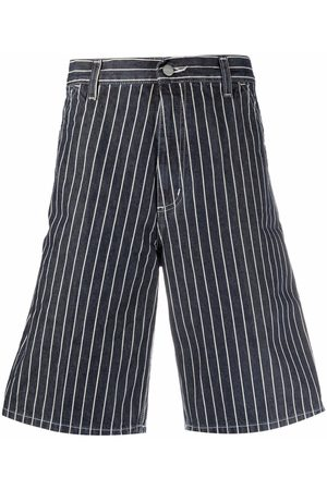 Carhartt Men Bermudas - Stripe-print bermuda shorts