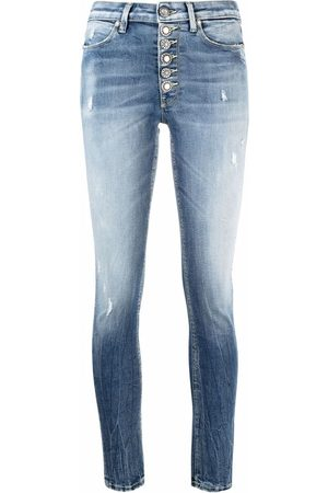 Dondup Women Skinny - Low-rise stonewashed skinny jeans