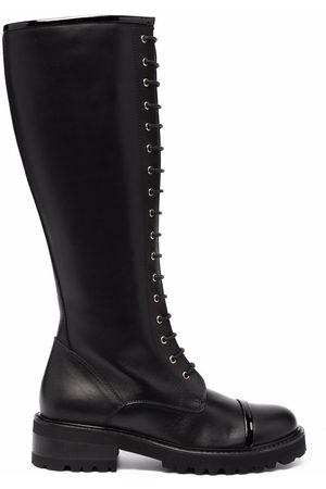 MALONE SOULIERS Women Knee High Boots - Lace-up leather knee-length boots