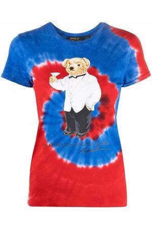Polo Ralph Lauren Women Polo Shirts - Polo Bear-motif tie-dye cotton T-shirt