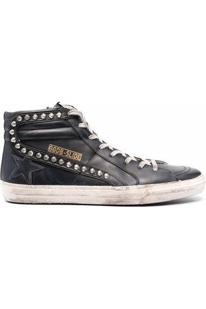 Golden Goose Slide Classic high-top distressed sneakers