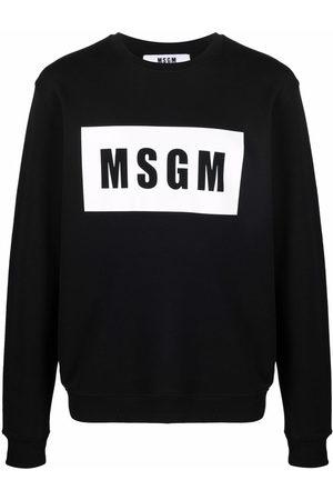 Msgm Men Sweatshirts - Logo-print cotton sweatshirt