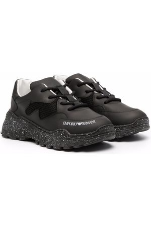 Emporio Armani Boys Sneakers - Logo-print lace-up sneakers