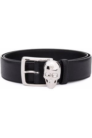 Philipp Plein Men Belts - Skull-appliqué leather belt