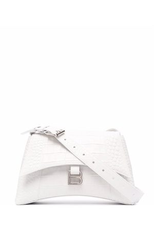 Balenciaga Small Hourglass crocodile-effect shoulder bag