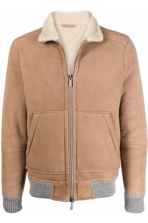 ELEVENTY Leather Jackets - Lambskin zipped jacket