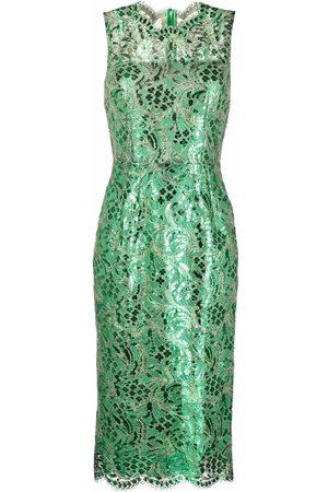 Dolce & Gabbana Lace-detail sleeveless midi dress