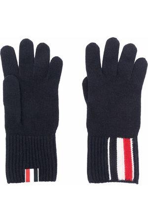 Thom Browne Men Gloves - RWB stripe merino wool gloves