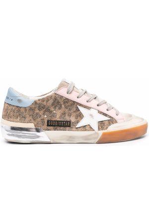 Golden Goose Women Sneakers - Leopard-print Super-Star sneakers