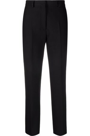 Msgm Women Formal Pants - High-waisted cropped trousers