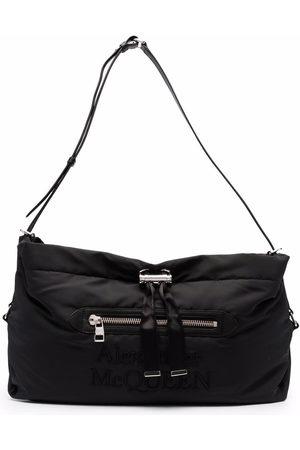 Alexander McQueen Large logo-embroidered shoulder bag
