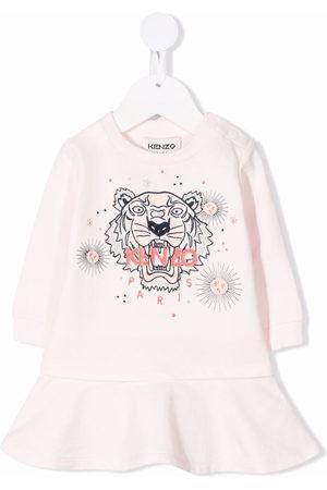 Kenzo Tiger-print organic cotton dress
