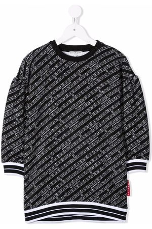 Givenchy Kids Girls Casual Dresses - Logo-print casual dress