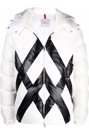 Moncler Criss cross-print puffer jacket