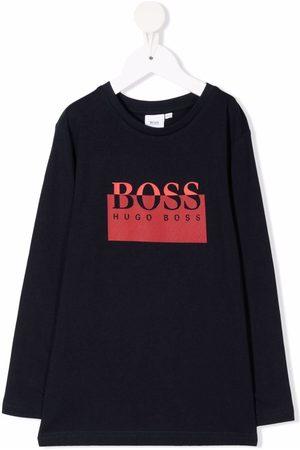 HUGO BOSS Logo-print long-sleeved sweatshirt
