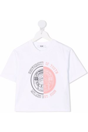 MSGM Kids University Of Youth T-shirt