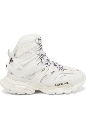 Balenciaga Track Hike Panelled Faux-leather High-top Trainers - Womens