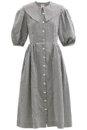 Shrimps Women Casual Dresses - Olivia Cotton-gingham Shirt Dress - Womens