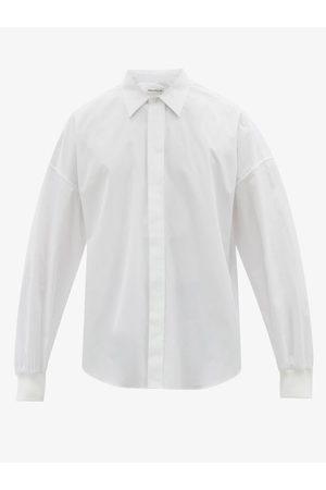 Alexander McQueen Ribbed-cuff Cotton-poplin Shirt - Mens