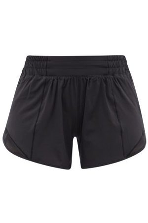 "Lululemon Women Sports Shorts - Hotty Hot 4"" Recycled Fibre-blend Running Shorts - Womens"