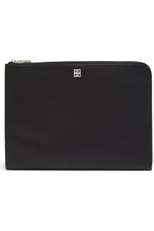Givenchy Logo-stud Grained-leather Pouch - Mens