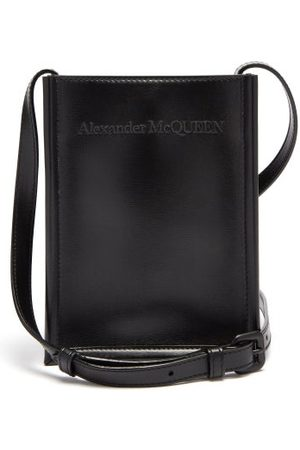 Alexander McQueen Logo-embroidered Leather Cross-body Bag - Mens